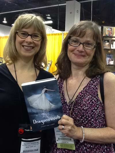 Editor Kathy Dawson and Janet at ALA