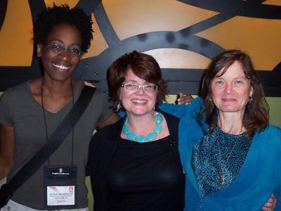 Jacqueline Woodson, Libba Bray, Janet @ ALA 2009