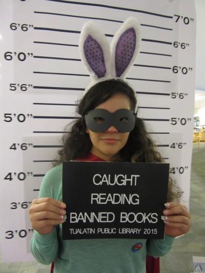LL Aimee me Banned Books display (2)
