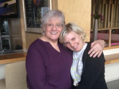 Karen C with Lena Dunham