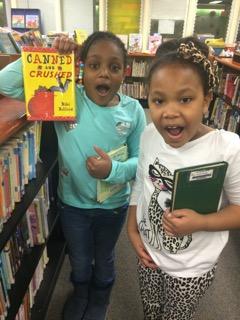 LL Bibi kids Allen Elementry with book