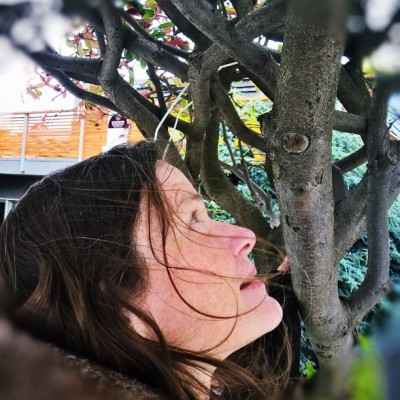 Janet and tree branches 2016
